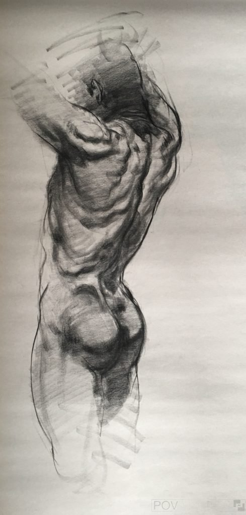 A drawing done without a model